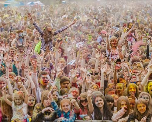 Ирис, арт фестиваль красок | Краски Холи в Перми